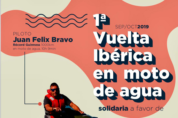 Solidaria Vuelta Ibérica en Moto de Agua
