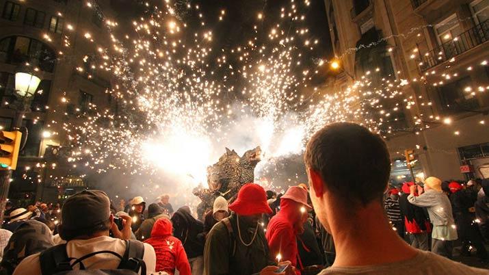 Fiestas de la Mercé. Fiestas nacionales para visitar en camper.