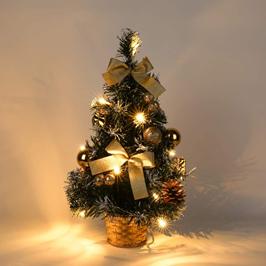 decoración navideña autocaravana árbol miniatura